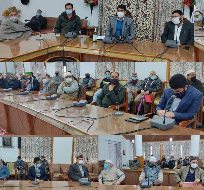 DC Srinagar interacts with religious leaders, Sajada Nasheens, Imams, Khateebs, Auqaf members