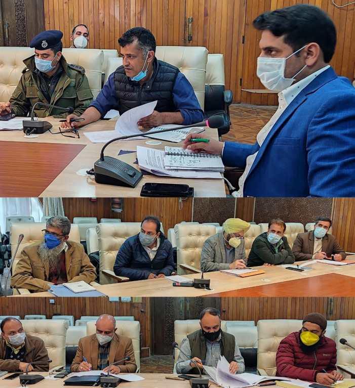 DC Srinagar reviews progress of Jal Jeevan Mission