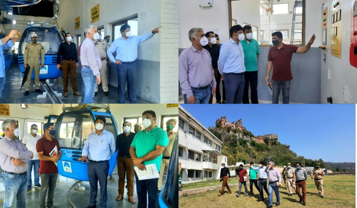 Div Com inspects Jammu Ropeway Project Phase 2nd