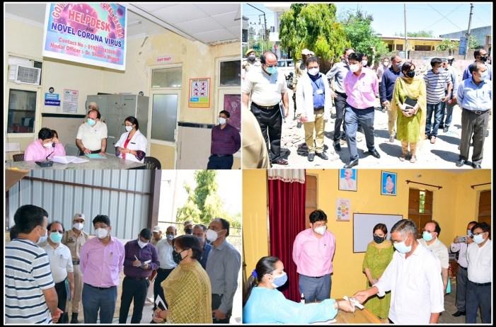 Div com visits District Hospital Samba