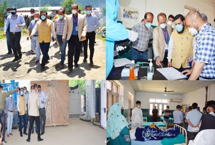 DC Kupwara inspects Covid Hospital
