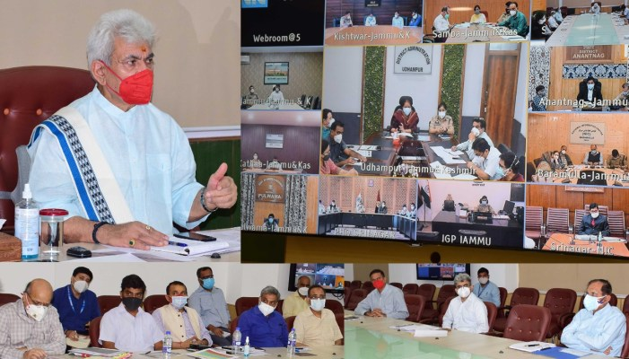 Lt Governor reviews Covid containment measures in a series of high level meetings with Covid Task Force, DCs and SPs