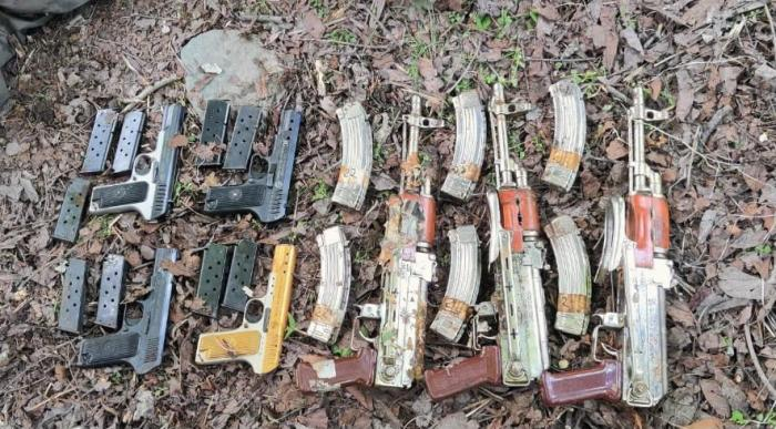 Several automatic rifles recovered in Tangdhar