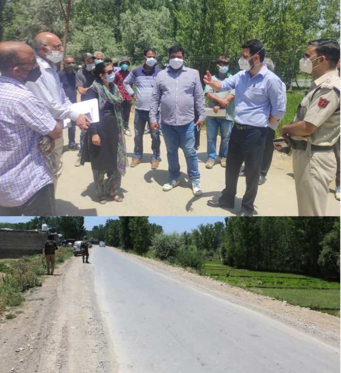 CEO ERA inspects ongoing works on Parimpora–Soibugh road
