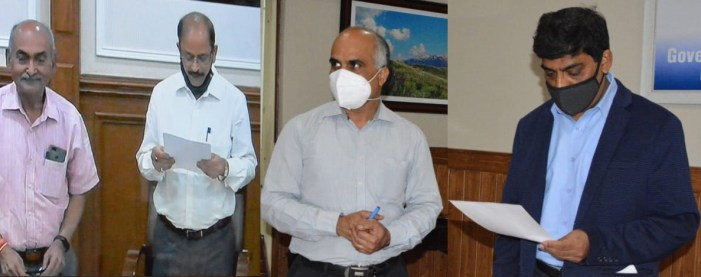CS administers oath of office to member J&K Water Resources Regulatory Authority