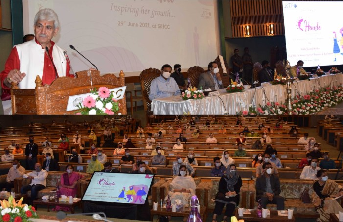 """Lt Governor launches """"HAUSLA- Inspiring her growth"""", a comprehensive Programme for Catalysing Women Entrepreneurship in J&K"""