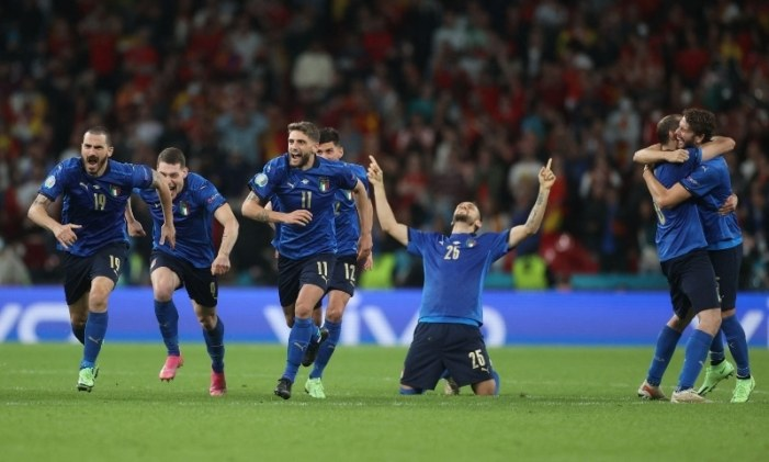 Italy beat Spain on penalties to set up Euro 2020 final with England or Denmark