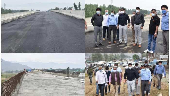 DC Srinagar inspects Lasjin(Athwajan) Grade Separator Works