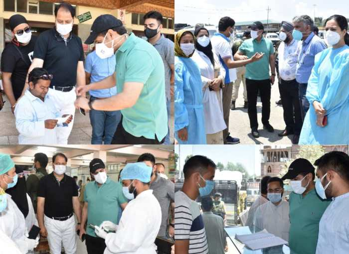 DC Srinagar visits SMHS, Lal Ded Hospitals, other City areas