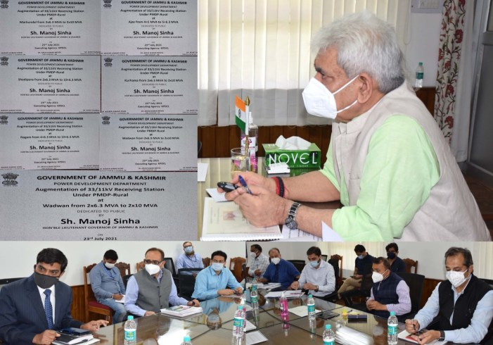 Lt Governor dedicates 07 Power Infrastructure Projects worth Rs 10.11 crore to the public
