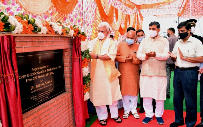 Lt Governor inaugurates 35 power projects worth Rs 44.14 crore augmenting overall capacity by 367 MVA in Jammu