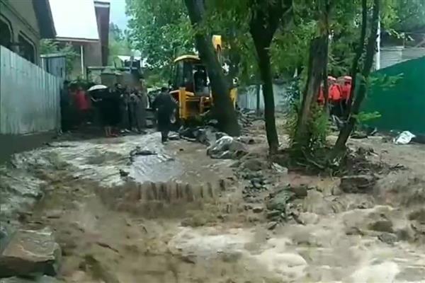 After heat wave cloudburst in Ganderbal lead to flash floods