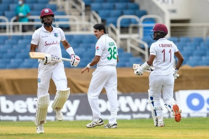 West Indies lead Pakistan by 34 after day 2 of 1st Test