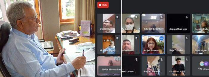 Advisor Khan takes part in Webinar of National Trust