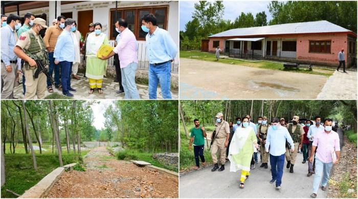 DC G'bal inspects developmental works in Block Sherpathri