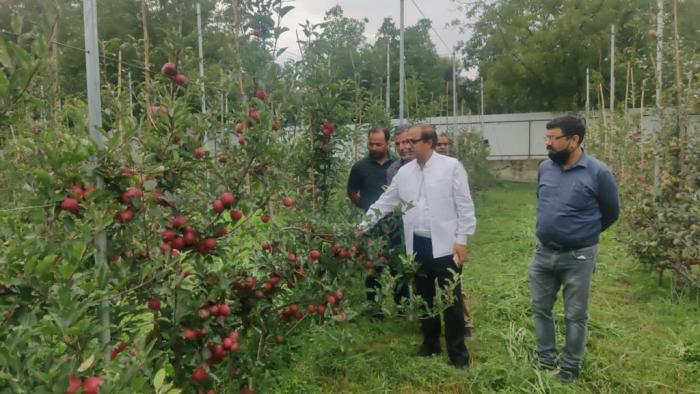 DG Horticulture visits Sub-Division Tral