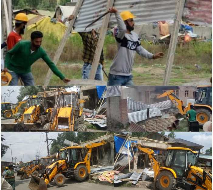 Distt Admin Srinagar launches massive anti encroachment drive along historical water bodies