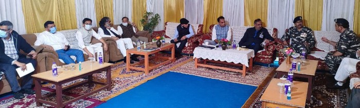 Day-2: Parliamentary Standing Committee on Home Affairs holds meeting with top civil administration