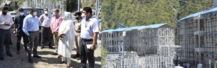 Advisor Baseer Khan conducts on spot review of Transit Accommodation for yatris at Ramban