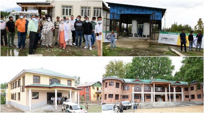 DC Ganderbal inspects progress on Medical Oxygen Plant, other vital projects in district