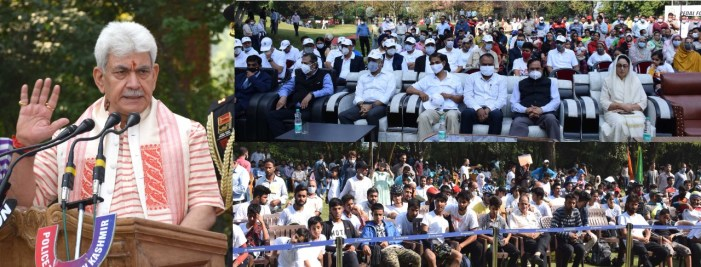 """Lt Governor joins youth in """"Pedal for Peace"""" event organized by JKP"""