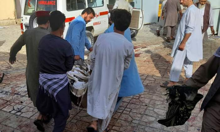 At least 55 killed, scores injured in suicide attack at mosque in Afghanistan's Kunduz