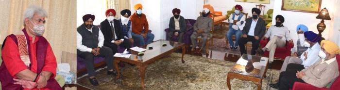United Kashmiri Sikhs Progressive Forum Delegation calls on Lt Governor