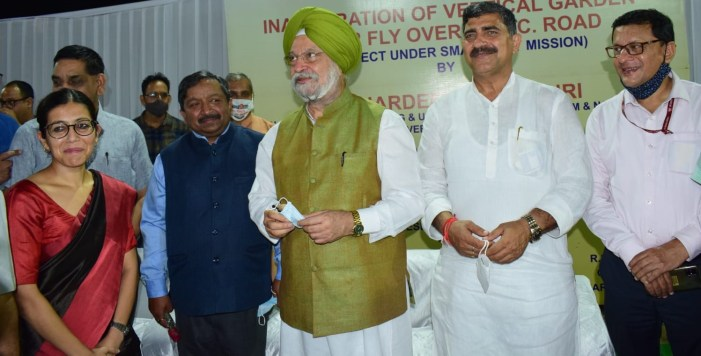 Union Minister Hardeep Singh Puri inaugurates Construction of Vertical Garden under Flyover in Jammu