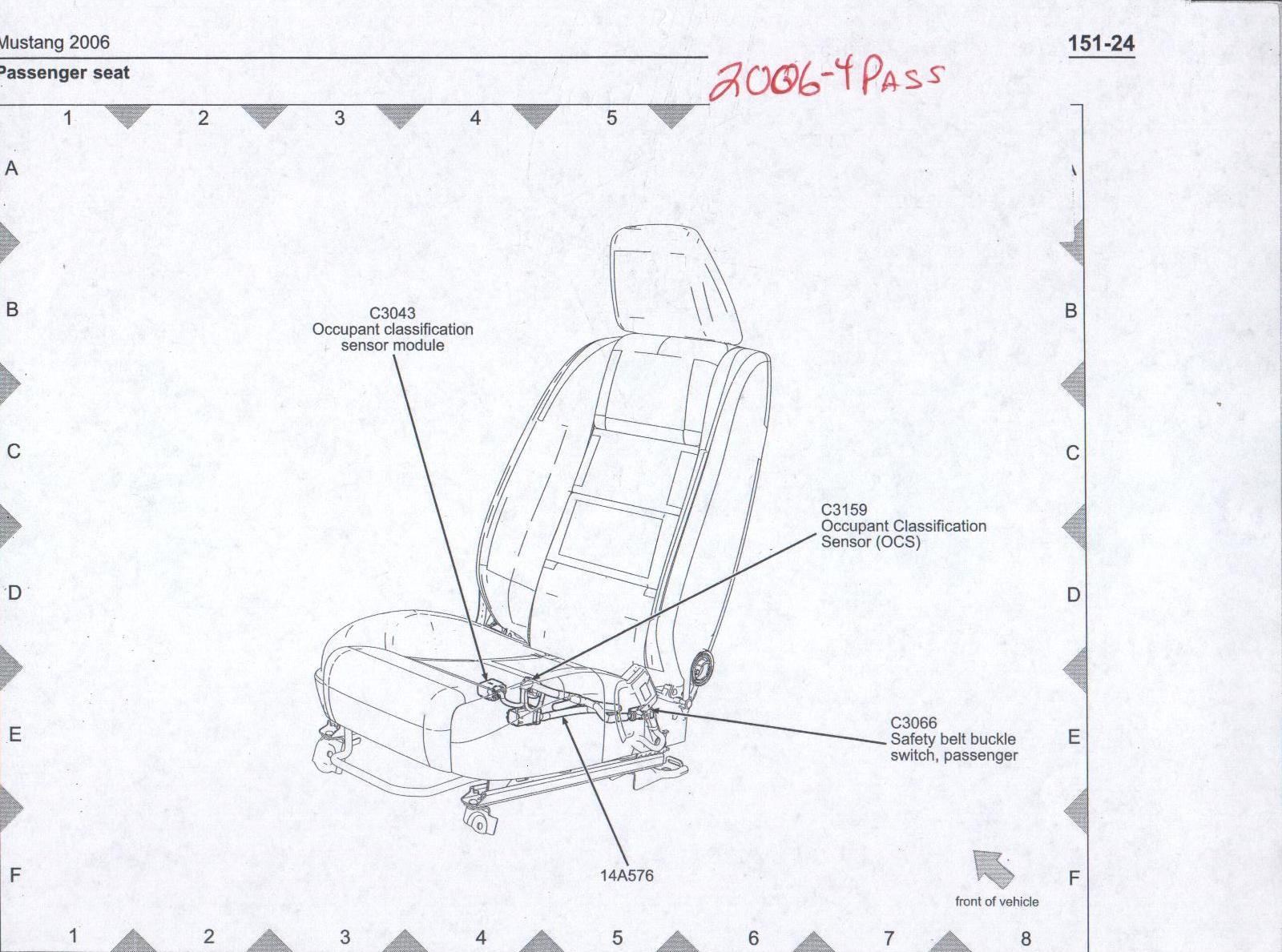 2006 pontiac g6 seat motor diagram