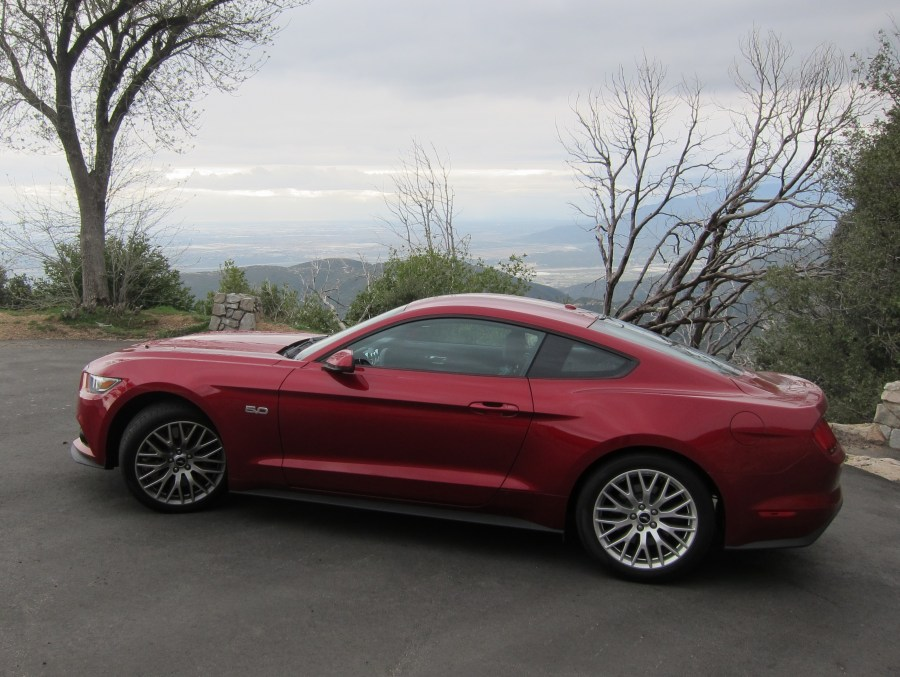 2016 Mustang on Rim of the World Highway II