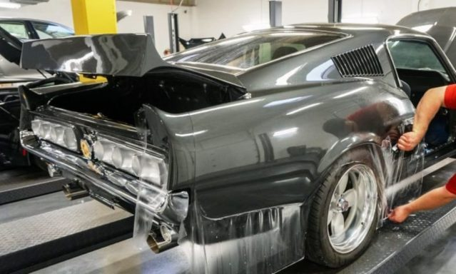 1967 Shelby Mustang GT500 with XPEL Clear Bra protective wrap.