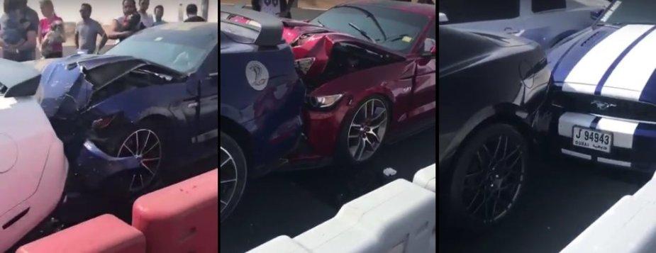 Mustang Wreck in Dubai