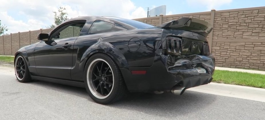 Wrecked Mustang Wide