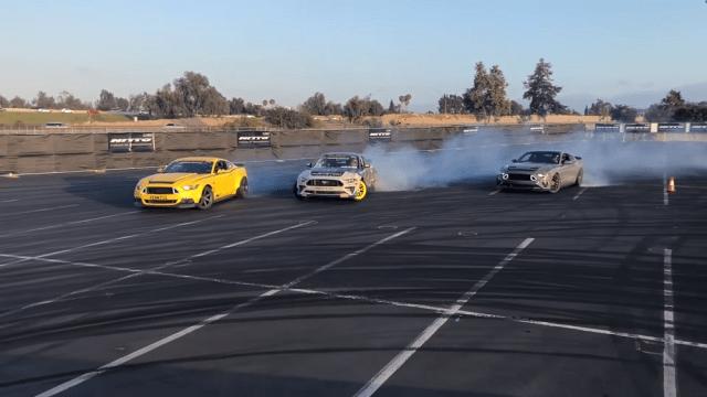 Mustang Drifting