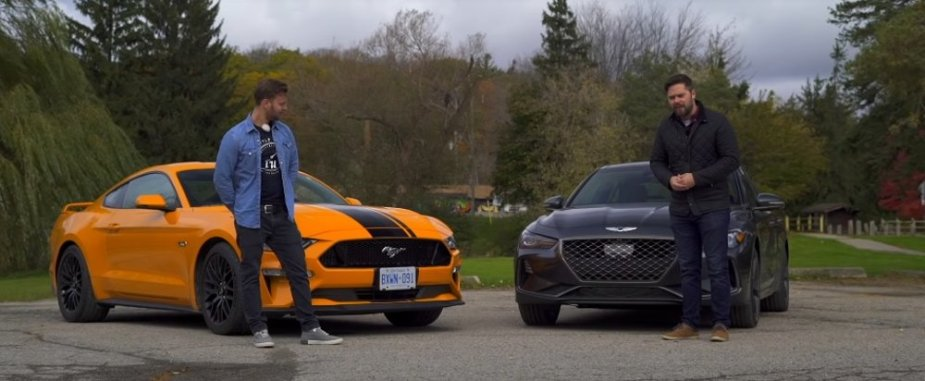 Mustang GT Vs G70 Front