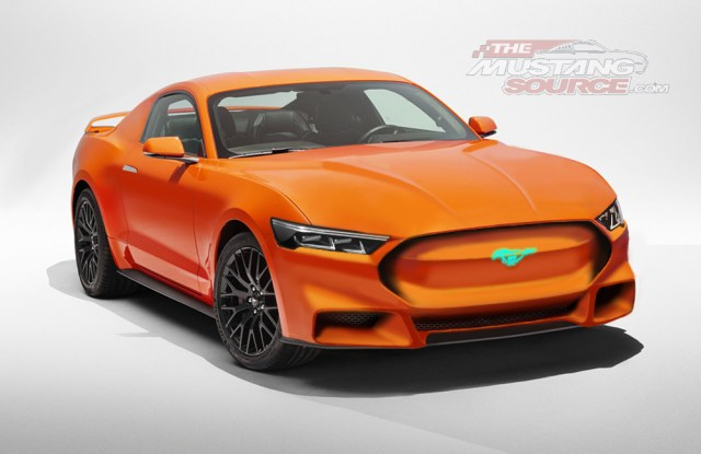 Ford Mustang Hybrid Rendering