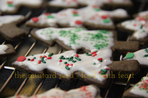 Gingerbread Trees with Juniper Berry Glaze