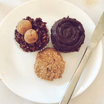 They say the best treats come in threes! Cupcakes, rice crispy cakes, and cookies galore!