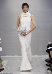 Theia-Fall-2015-sleeveless-knit-cashmere-sheath-column-bridal-dress-with-a-turtleneck-for-the-winter-wedding-Style-Erin