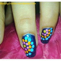 Dots on Night Sky Nail Art