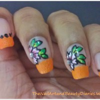 Floral French Nail Art