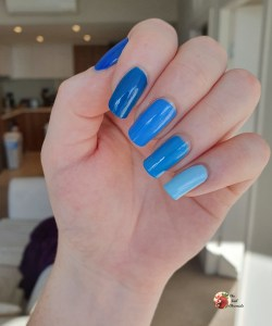 Easiest Blue Ombre Nail Art Tutorial The Nail Chronicle