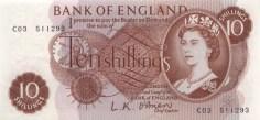 Ten shillings 10/- note