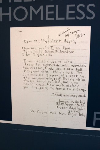 A letter to President Reagan