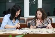 CA Anastacia helps Rebecca with basic strokes