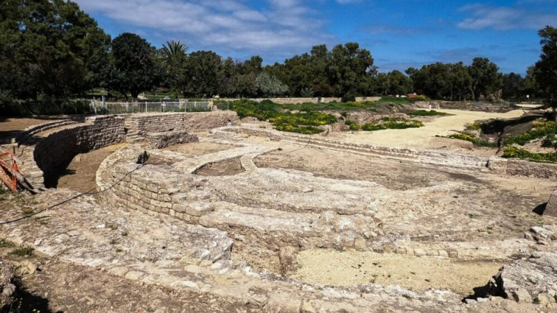 The Basilica and Odeon Complex in Tel Ashkelon National Park. (Yaniv Cohen/Israel Nature and Parks Authority)