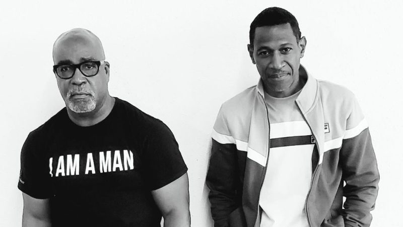 """""""Every generation has its musical soundtrack, but, unlike their predecessors, the Black Lives Matter Millennials and Gen Zers are without one,"""" said C. Von Parchman (left), pictured with Marty Arnold. (Courtesy of 6x Entertainment)"""