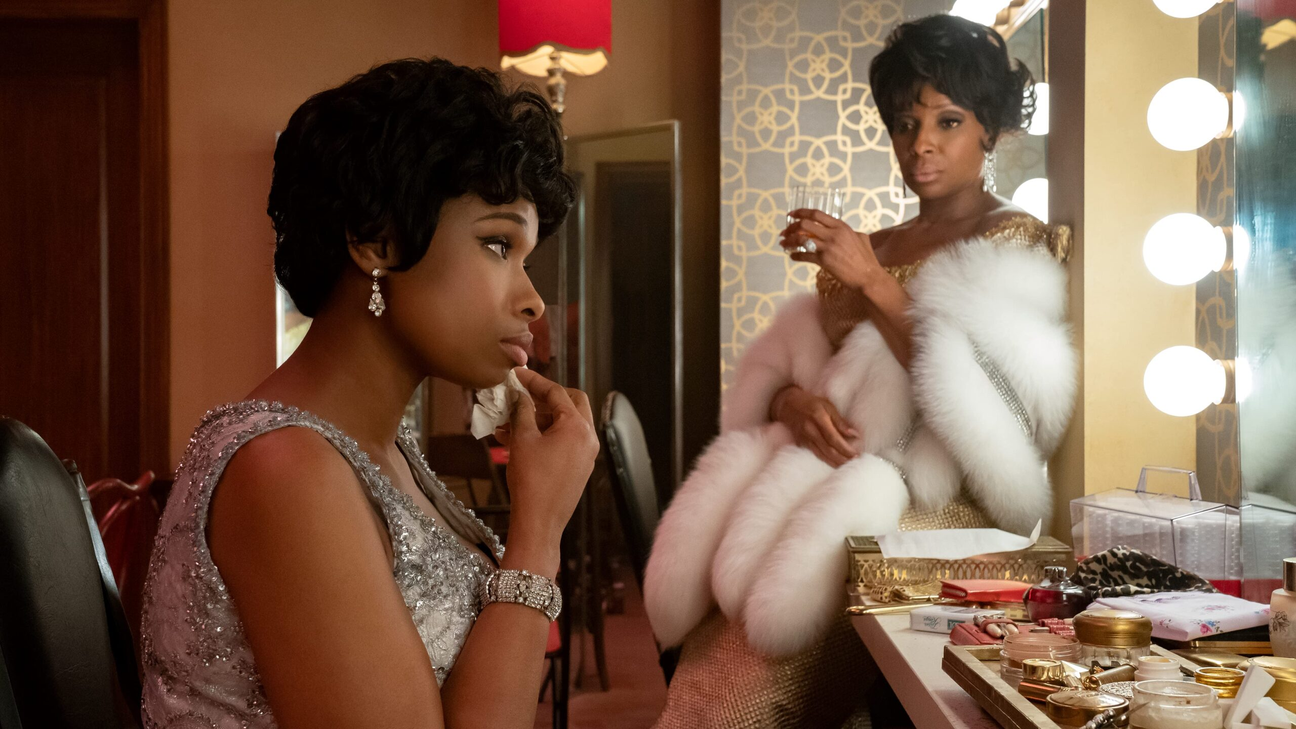 Jennifer Hudson and Mary J. Blige giving us Black Girl Magic in the film, Aretha Franklin RESPECT.  Picture credit from IMDb