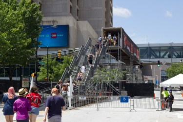 The Bridge of Death, which you had to cross to get between the main venue and the two side stages.