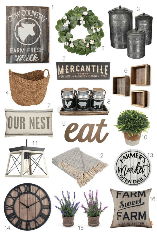 Favorite Farmhouse Finds For Your Home Fixer Upper Style